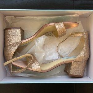 Size 8 Rose Gold Glitter Heels
